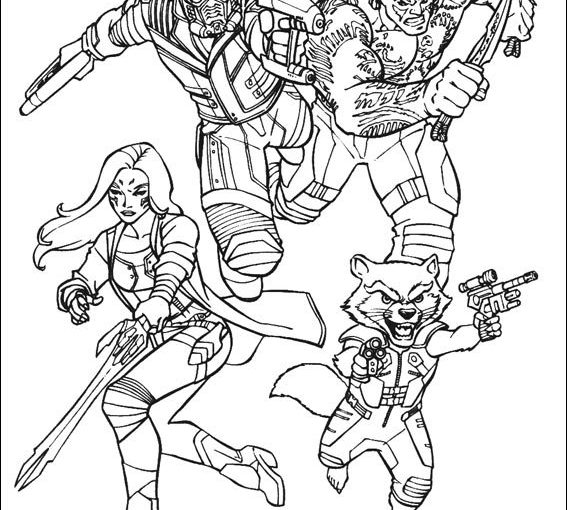 Guardians Of The Galaxy Free Printable Coloring Pages Groot Gamora Star Lord Drax Rocket Colorpages Org