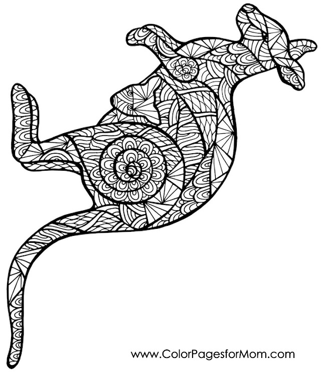 Animals 64 Advanced Coloring Page