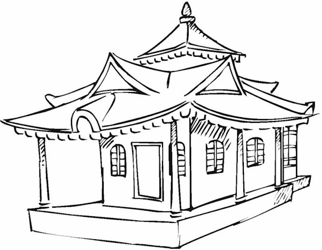 Asian Coloring Page 3