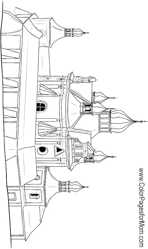 Church Coloring Page 6