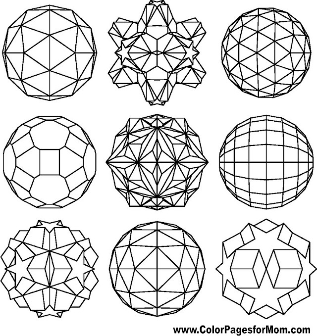 Geometric Shapes Coloring Page 89