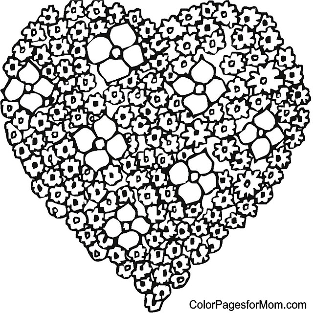 Hearts 36 Advanced Coloring Page