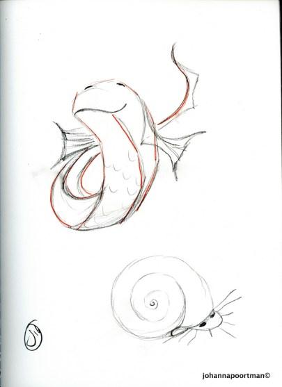 sketch fish004