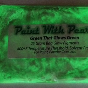 Green to Green Glow In The Dark Paint Pigments - Long Lasting