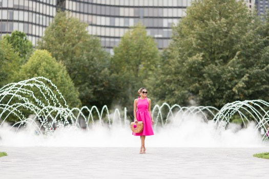 colors of mei, pink bow dress, back bow dress, pink dress, downtown chicago, chicago, places to see in chicago, navy pier, olive park, fashion blog, inspiration blogger, milwaukee blogger, fashion, travel blogger, colors of may, pink dress ideas