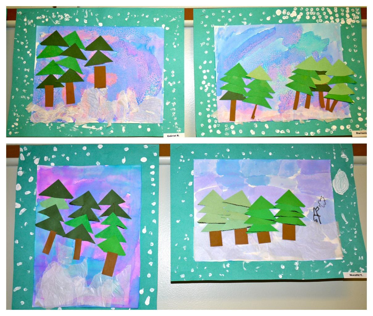Cutting Zig Zag Lines Worksheet Winter Art Projects