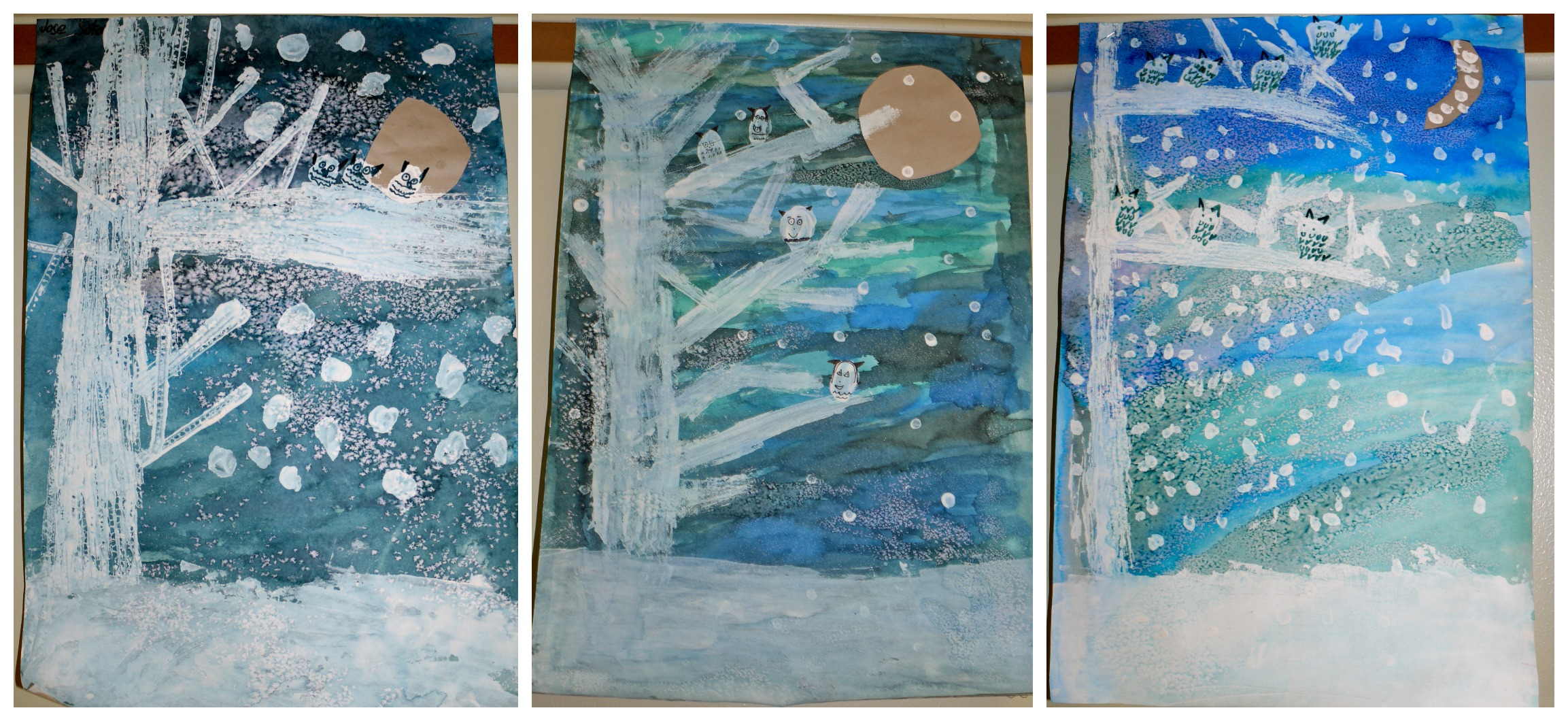 3rd Grade Owl Moon Landscapes