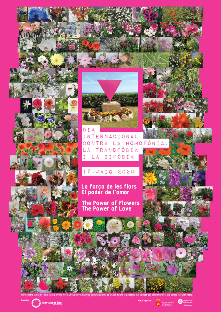 Poster Collage Ofrenda Floral Virtual
