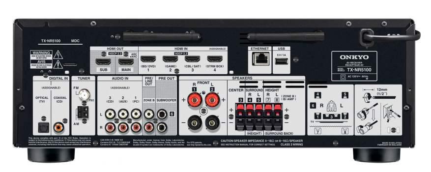 Onkyo TX-NR5100 Back