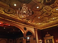 Renaissance inspired detail of the Crystal Ballroom.