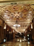The grand hall in the Biltmore Hotel Los Angeles.