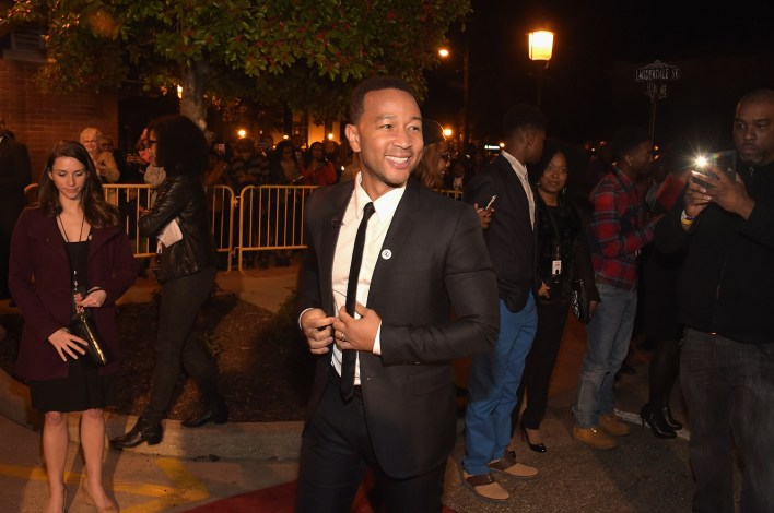 "SELMA, AL - JANUARY 18: EDITORIAL USE ONLY John Legend attends a special screening of ""Selma,"" presented by Paramount Pictures on January 18, 2015 in Selma, Alabama. (Photo by Rick Diamond/Getty Images for Paramount Pictures) *** Local Caption *** John Legend"