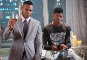 EMPIRE: Trai Byers as Andre Lyon and Bryshere Gray as Hakeem Lyon in the ÒThe Devils Are HereÓ Season Two premiere episode of EMPIRE airing Wednesday, Sept. 23 (9:00-10:00 PM ET/PT) on FOX. ©2015 Fox Broadcasting Co. Cr: Chuck Hodes/FOX.