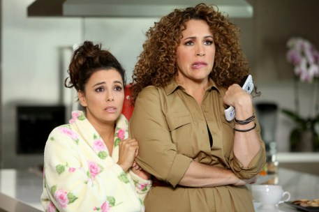 TELENOVELA -- Pilot -- Pictured: (l-r) Eva Longoria as Ana Sofia Calderon, Diana Maria Riva as Mimi -- (Photo by: Jordin Althaus/NBC)