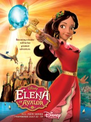 "ELENA OF AVALOR - Princess Elena of Avalor will make her royal debut in the highly anticipated animated series ""Elena of Avalor,"" with a one-hour premiere event FRIDAY, JULY 22 (7:00-8:00 p.m., EDT), on Disney Channel. (Disney Channel)"