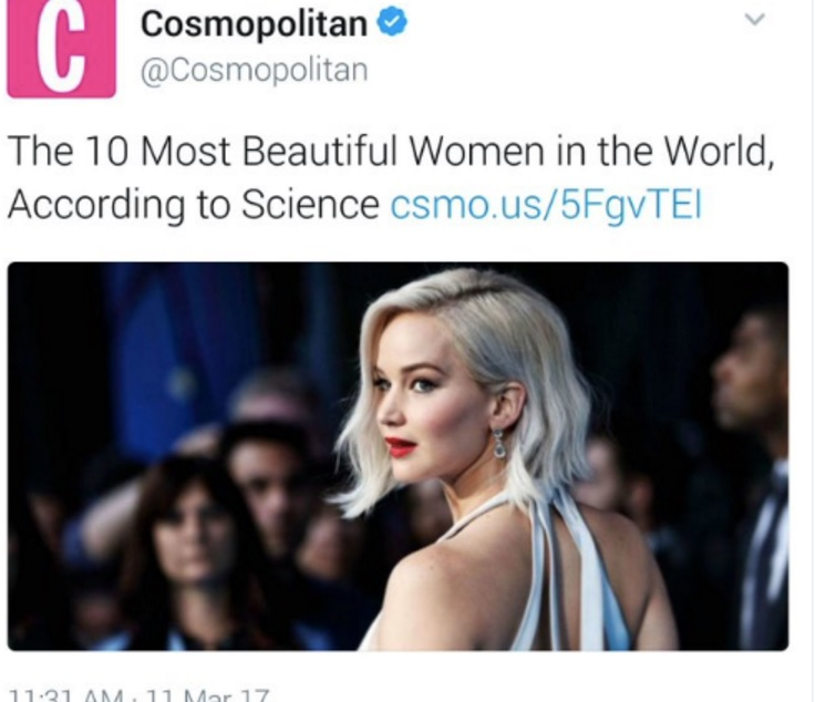 "It's Day 2 and Cosmopolitan Magazine still hasn't apologized for that racist ""most beautiful women according to science"" article"