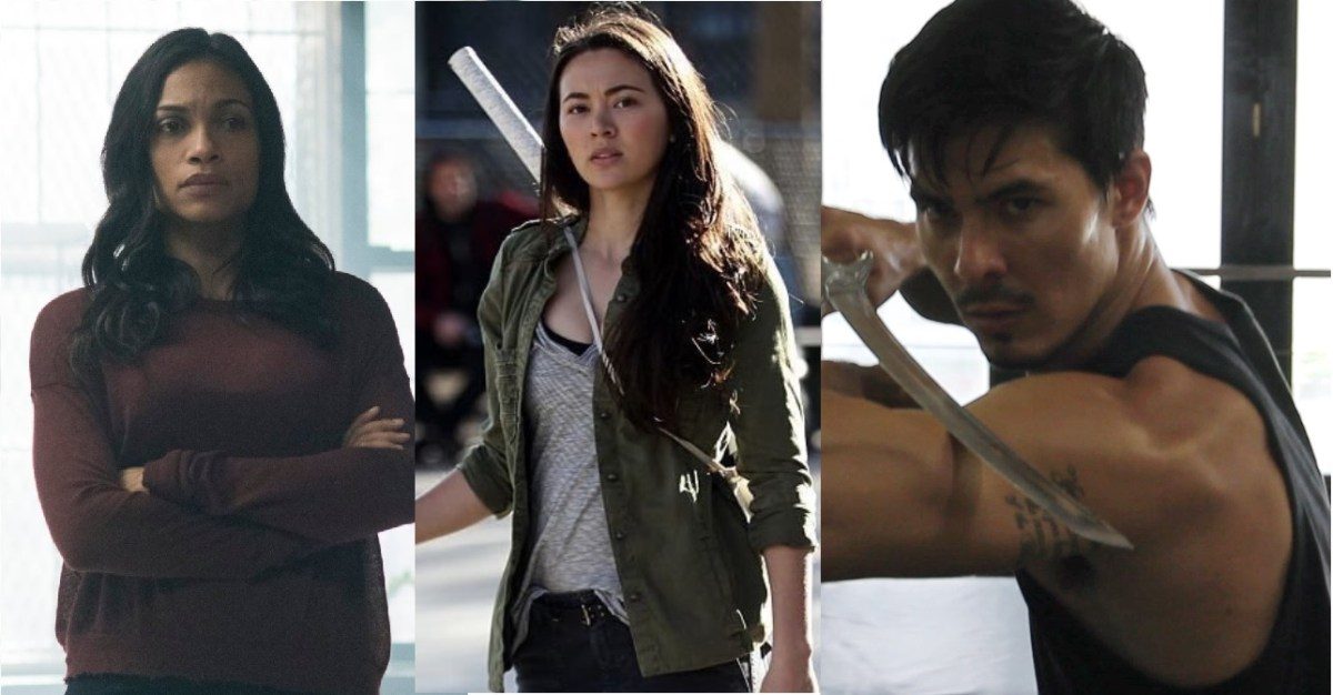 "Let's focus on the positives of ""Iron Fist,"" Rosario Dawson, Jessica Henwick and Lewis Tan"