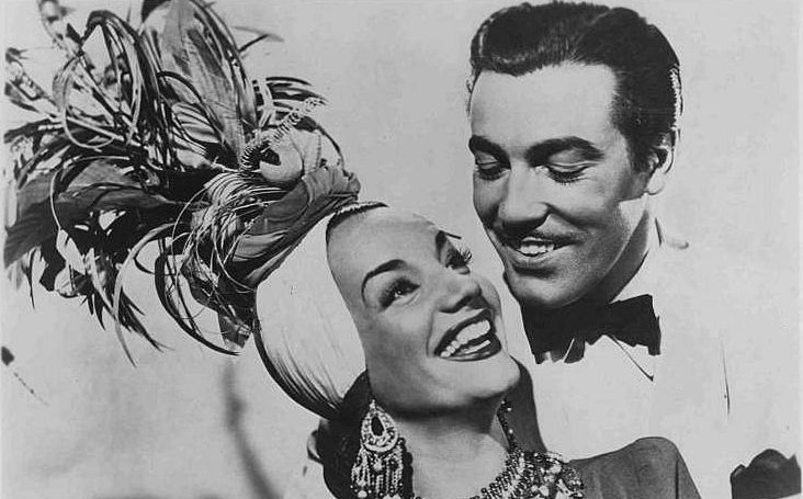 Carmen Miranda and Cesar Romero in a press image for Week-end in Havana (20th Century Fox).