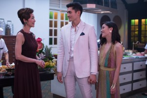 "Photo Credit: Sanja Bucko Caption: (L-R) MICHELLE YEOH as Eleanor, HENRY GOLDING as Nick and CONSTANCE WU as Rachel in Warner Bros. Pictures' and SK Global Entertainment's and Starlight Culture's contemporary romantic comedy ""CRAZY RICH ASIANS,"" a Warner Bros. Pictures release."