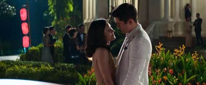 """Photo Credit: Sanja Bucko Caption: (L-R) CONSTANCE WU as Rachel and HENRY GOLDING as Nick in Warner Bros. Pictures' and SK Global Entertainment's and Starlight Culture's contemporary romantic comedy """"CRAZY RICH ASIANS,"""" a Warner Bros. Pictures release."""