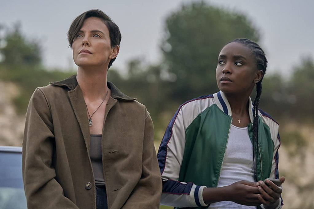 (L-R) Charlize Theron and KiKi Layne in The Old Guard. Photo credit: Netflix