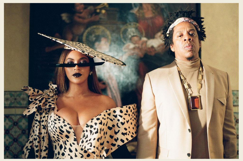 "Beyoncé and Jay-Z illustriously pose in the ""MOOD 4EVA"" part of ""Black Is King."" (Photo credit: BEYONCÉ/PARKWOOD/DISNEY)"