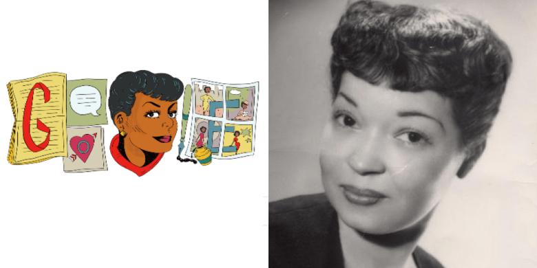 """Torchy Brown"" creator Jackie Ormes is the subject of the most recent Google Doodle."