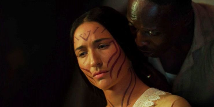 Yahima's (Monique Candelaria) last moments, thanks to Montrose (Michael K. Williams). (Photo credit: HBO)