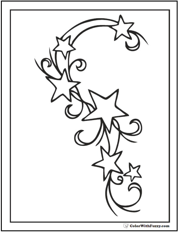 Moon And Stars Coloring Pages : stars, coloring, pages, Coloring, Pages, Customize, Print, Ad-free