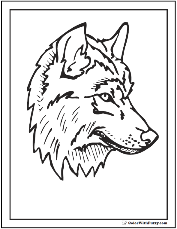 Wolves To Color : wolves, color, Coloring, Pages:, Print, Customize