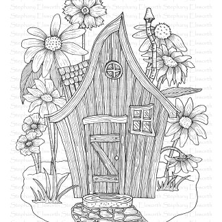 Fairy House with Wildflowers