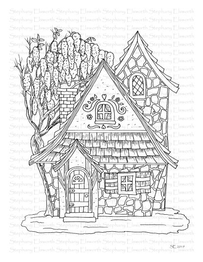 Wisteria Cottage Fairy House