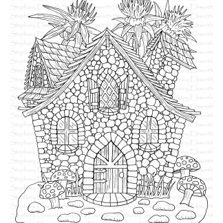Pebble Cottage Fairy House