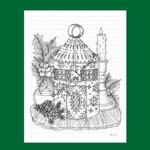 Lantern Fairy House Coloring Page