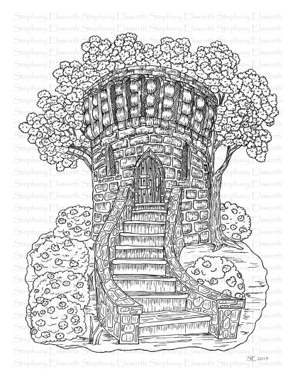 Medieval Tower Fairy House