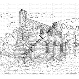 Lynnhaven House Coloring Page