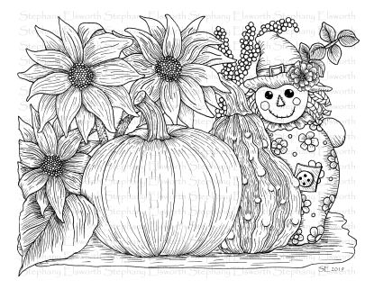 Pumpkin and Scarecrow