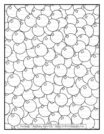 Gumballs Coloring Page