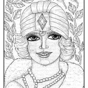 Flapper Girl Coloring Page