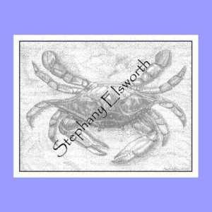 Blue Crab Printable Coloring Page