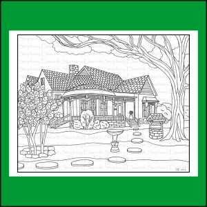 Home and Garden Coloring Pages