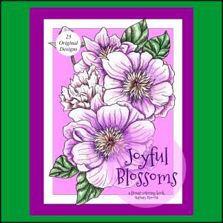 Joyful Blossoms PDF Coloring Book and Single Coloring Pages