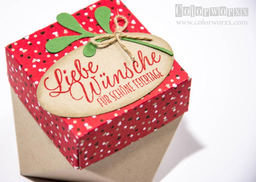 Weihnachtliche Diamantbox Stampin Up