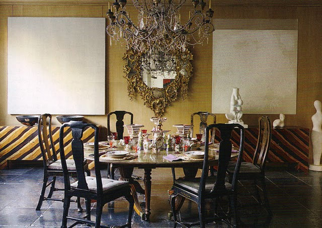 Black And Gold Dining Rooms Modern Home Exteriors