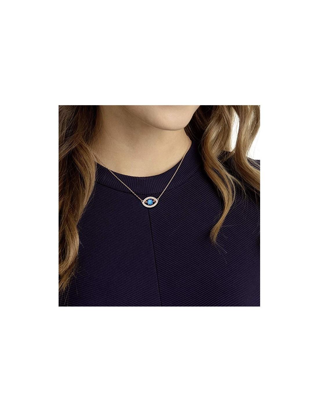 Necklace Luckily Evil Eye jewelery Swarovski rose gold plated 5448611