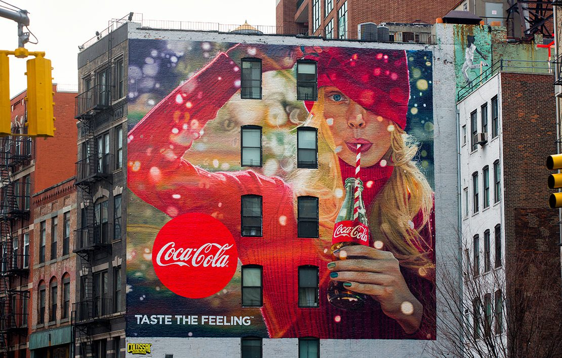 CocaCola Classic Ad  Hand Painted by Colossal Media