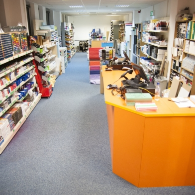 The University of Hertfordshire Art Shop Interior
