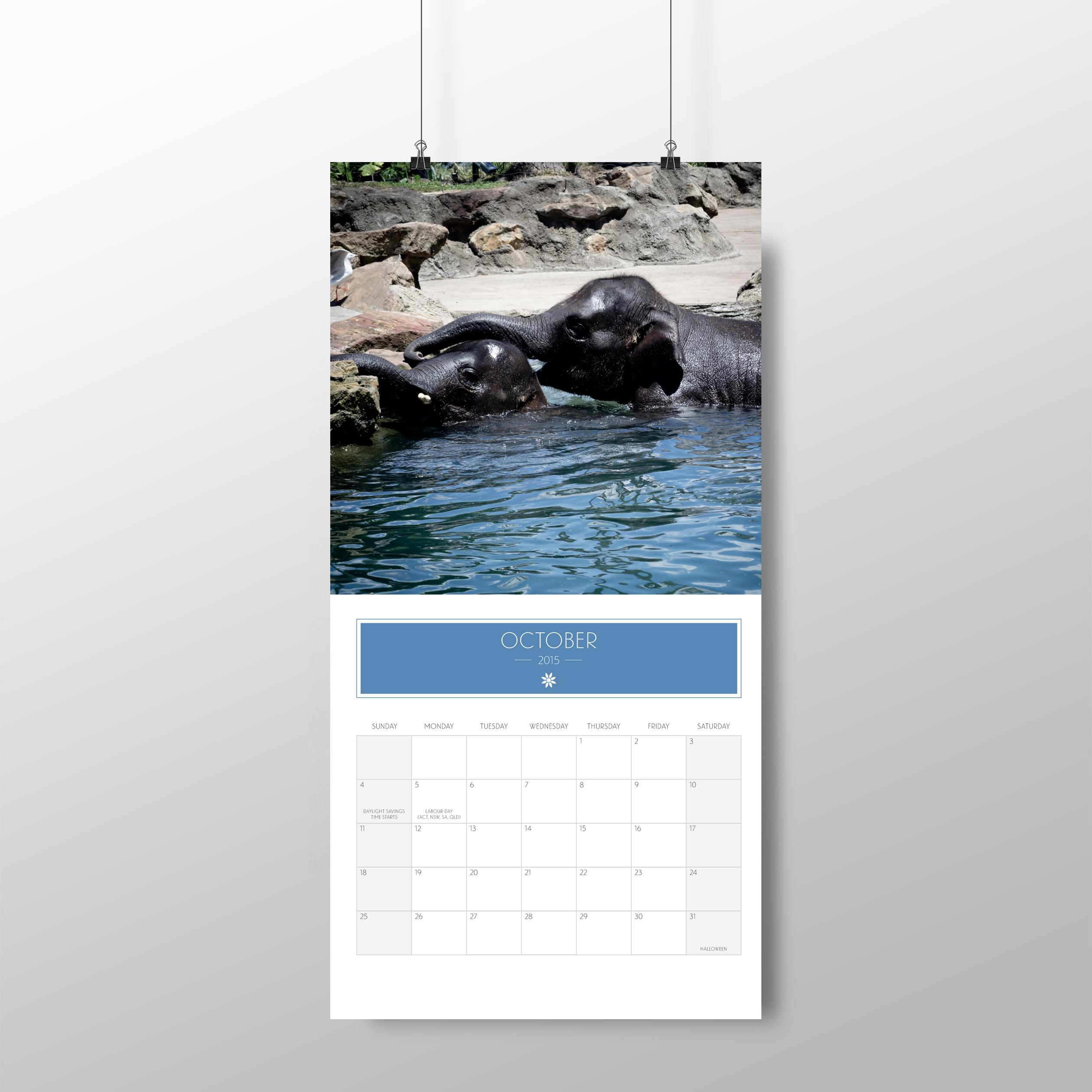 Animal calendar – October