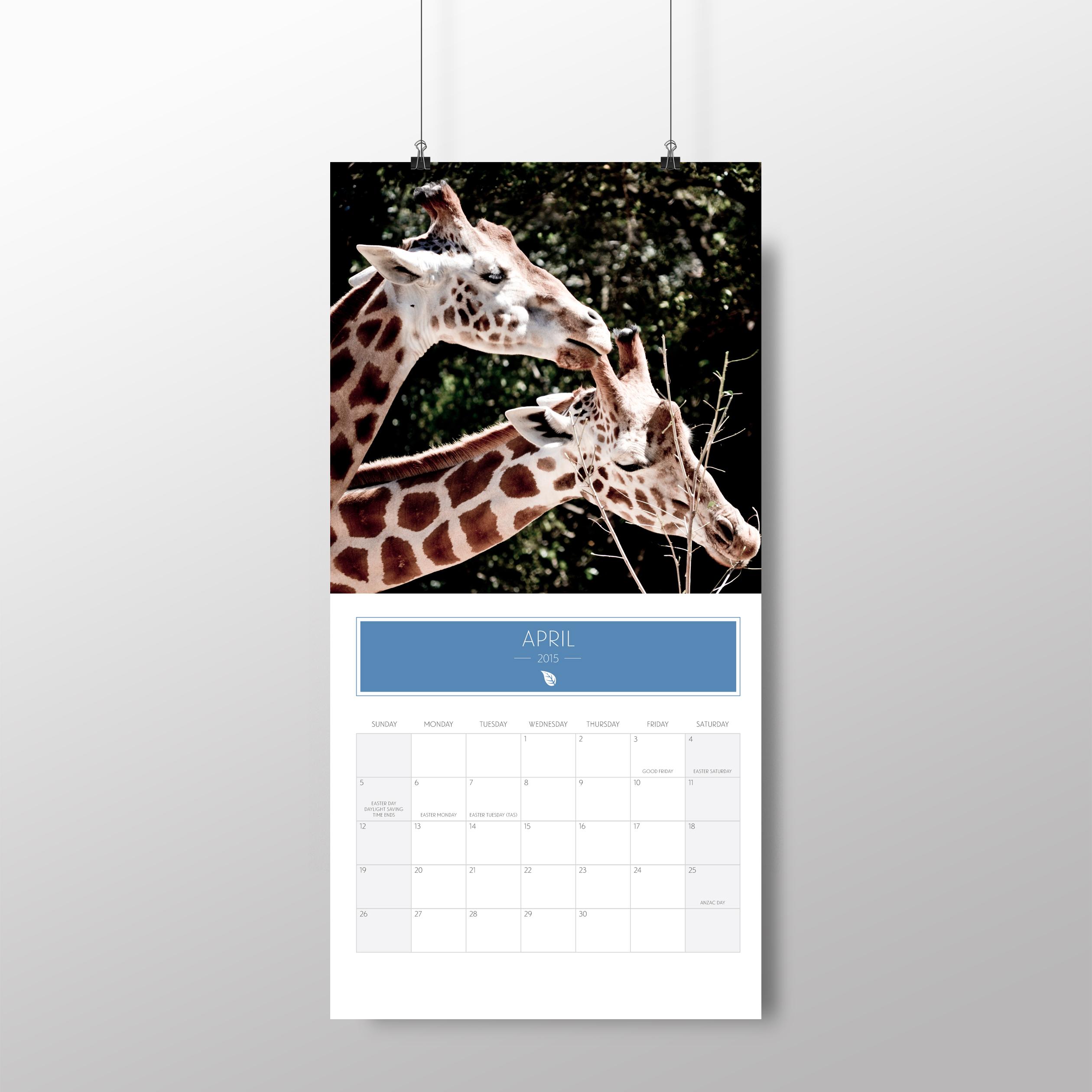 Animal calendar – April