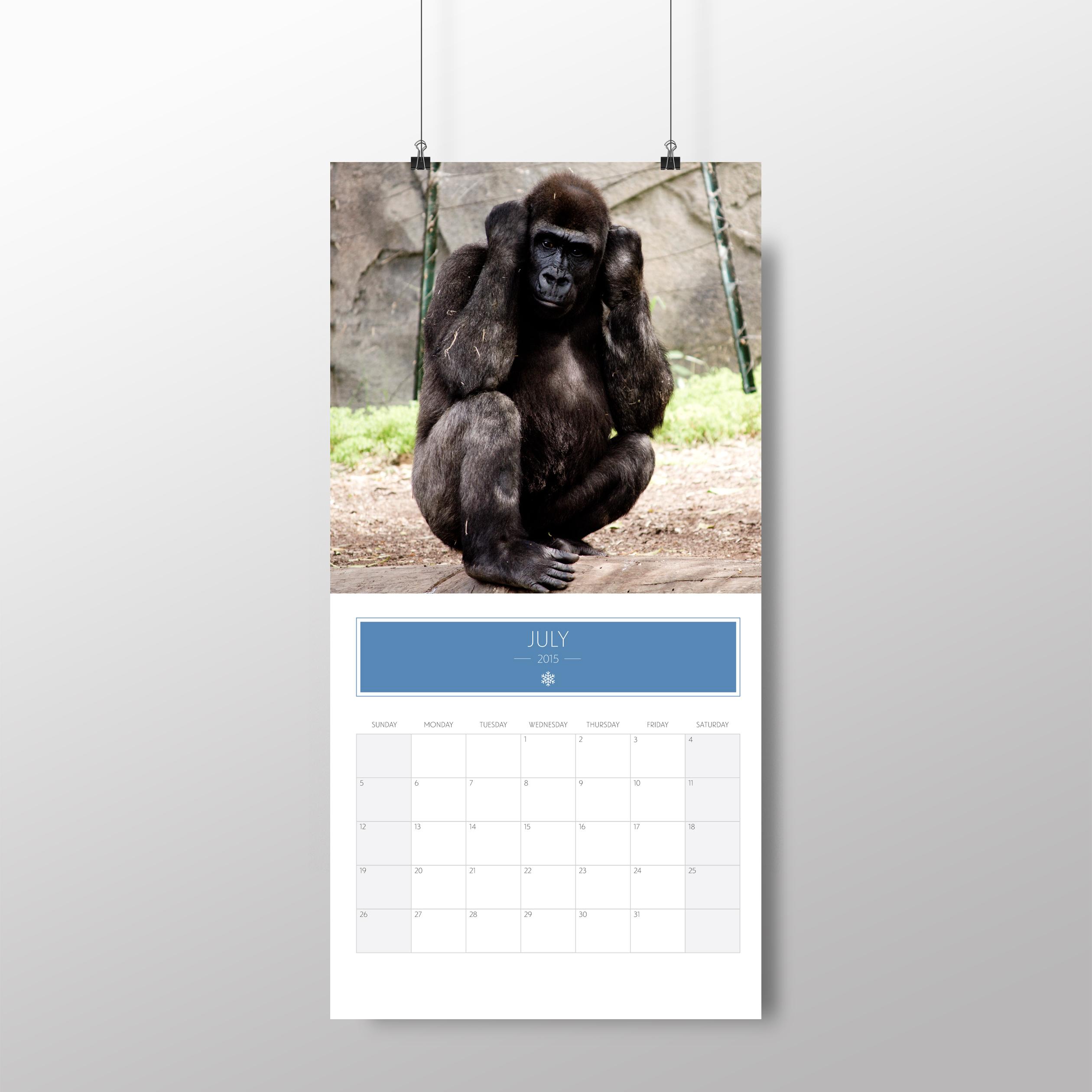 Animal calendar – July